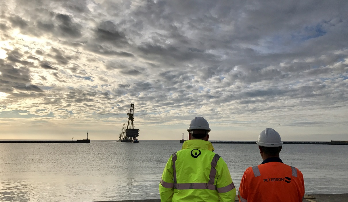 Veolia and Peterson facility at Great Yarmouth receives the first offshore structure for decommissioning